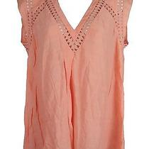 Rebecca Taylor Diamond High Low Top Blouse Salmon 4 245 Photo