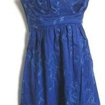 Rebecca Taylor Embroidered Corset Sweetheart Neck Dress- Sz 2 Photo