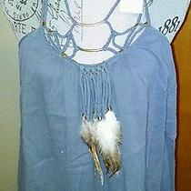 Rebecca Taylor Feather Necklace Cami Tank Top