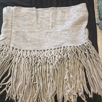 Rebecca Taylor Fringey Shawl / Scarf (Feather Grey) (One Size) 130.99 Photo