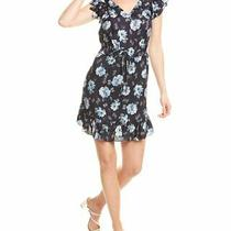 Rebecca Taylor Peony Bloom Mini Dress Women's Black Xs Photo