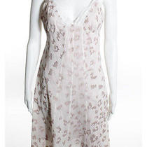 Rebecca Taylor Pink Cotton Embroidered Detail Lace Trim Baby Doll Dress Sz 4 Photo