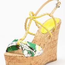 Rebecca Taylor Shoes Naomi Floral Platform Wedge Sandal Size 8 Photo