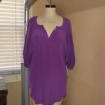 Rebecca Taylor Violet Shirt Dress Size 2 Photo