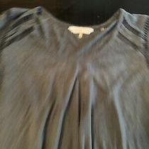 Rebecca Taylor Womens Top Size M Gray Speckled Cap Sleeve Knit Shirt Casual  Photo