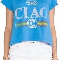 Rebel Yell Ciao Classic Crop Blue T Shirt Size Xs New Photo