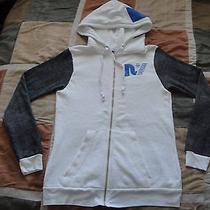 Rebel Yell Lightning Bolt Co-Ed Oversized Zip Up Hoodie Sweatshirt S Womens New Photo