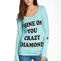 Rebel Yell Vintage Mint Shine on You Crazy Diamond Skinny Tee Long Sleeve Size M Photo