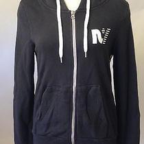 Rebel Yell Women's Zip Hoodie Sweatshirt Lightning Bolt Black Size S New  Photo