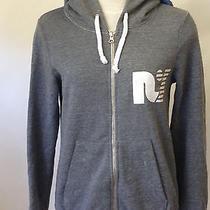 Rebel Yell Women's Zip Hoodie Sweatshirt Lightning Bolt Heather Grey Size S New  Photo