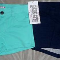 Rebelette Girls Size 6 (Aqua Color) & 6x (Blue) 2-Pack Shorts Orig. 28 Each Photo