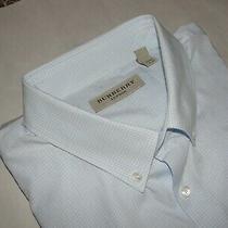Recent Burberry London Blue & White Check Dress Shirt Size-17.5 Photo