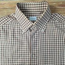 Recent Ermenegildo Zegna Mens Long Sleeved Dress Shirt Sz 16.5-35 Check Photo