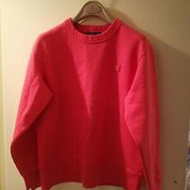 Red Acne Studios Fairview Face Sweatshirt Size Xs Oversize Style Photo
