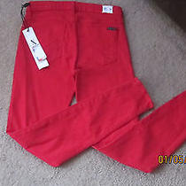 Red and Beautiful Hudson Skinny Pants  Photo