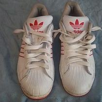 Red and White Adidas Shoes Photo