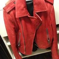 Red Balenciaga 100% Authentic Leather Jacket. No Damage. Like New. Photo