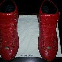 Red Balenciaga High Tops  Photo