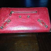 Red Balenciaga Wallet Photo