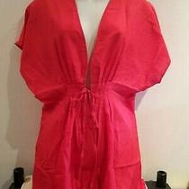 Red Beach Wrap Shirt. Size 10-12. Avon.  New Photo