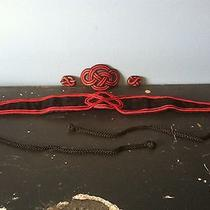 Red & Black Avon Hair Clip/waistband/earrings Set  Photo