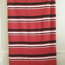 Red Black White Striped Stretch Knitted Effect Skirt Divided by h&m Size M 12/14 Photo
