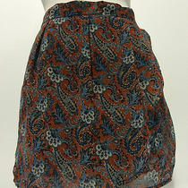 Red & Blue Paisley Mini Skirt by Camilla Tree Size Large Photo