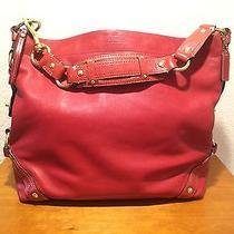 Red Burgundy Leather Authentic Coach Purse Handbag Satchel Photo