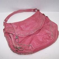 Red by Marc Ecko Pink Faux Snakeskin Silver Studded Hobo Purse Photo