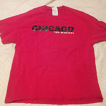 Red Chicago the Musical T-Shirt Sz L Prohibition All That Jazz Roxie Hart Velma Photo