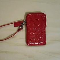 Red Coach Cell Wristlet Photo