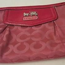 Red Coach Clutch Purse Great Condition Photo