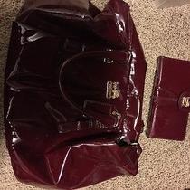 Red Coach Handbag With Wallet Photo