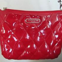 Red Coach Poppy Small Quilted Patent Leather Crossbody Purse Photo