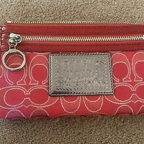 Red Coach Wristlet New With Tags Photo
