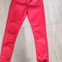Red Coated Skiny Jeans Photo