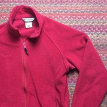 Red Columbia Fleece Zip Up Womens Layering Jacket Photo