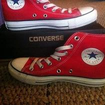 Red Converse High Tops Brand New With Box Photo