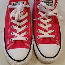 Red Converse Low Top Chuck Taylors Photo