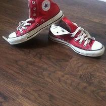 Red Converse Shoes Photo