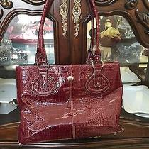 Red Croc Embossed Laptop Purse Photo