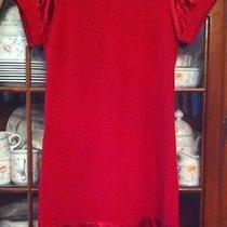 Red Dress a-Line Dress From Bebe Size Xs Photo