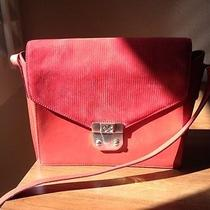 Red Escada Leather Bag Photo
