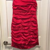 Red Express Ruffle Dress Strapless Size 12 Photo