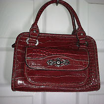 Red Faux Croc Handbag Photo