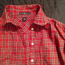 Red Gap 100% Cotton Tartan Blouse Xs Photo