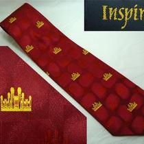 Red & Gold Neck Tie Castle Fantasy Land Far Far Away Fancy Front Gate Bridge Photo