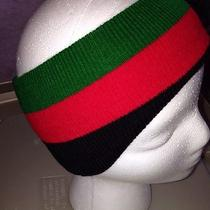 Red Green Black Headband Hat Cap Rasta Ski Gucci Color Stretch Ear Muff Hair Out Photo