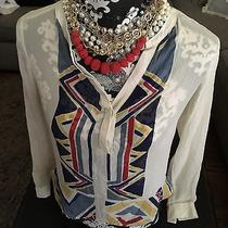 Red Haute Hippie Tribal Blouse Xs Womens  and Badass Red Necklace Free People Photo