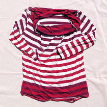 Red Haute  Red and Purple Striped Blouse - Large  Photo